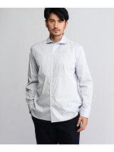 イカ胸ラウンドカラーシャツ