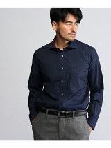 フロッキープリントネイビーシャツ