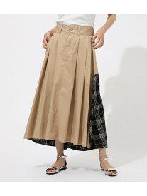 【SALE/50%OFF】AZUL by moussy CheckAsymmetryFlareスカート アズールバイマウジー スカート スカートその他 ベージュ ブラウン