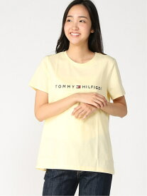 【SALE/50%OFF】TOMMY HILFIGER (W)TOMMY HILFIGER(トミーヒルフィガー) W CREW CORPORATE LOGO TEE トミーヒルフィガー カットソー Tシャツ イエロー ピンク ネイビー ホワイト