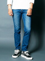 NO.35 SLIM VINTAGE WASH INDIGO DENIM