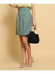【SS・Sサイズあり】スカラップベルトタイトスカート
