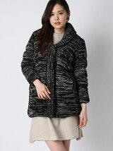 [アウトレット]中綿ニットロングジャケット