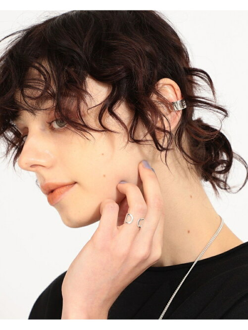 maturely / Militery Plate Ring & Ear Cuff