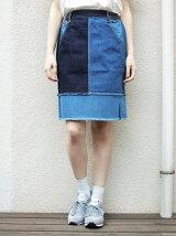 パッチワーク台形スカート
