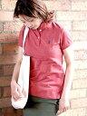【SALE/35%OFF】GIORDANO [GIORDANO]スモールライオン刺繍ポロシャツ ジョルダーノ カットソー ポロシャツ ピンク カ…