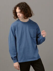 SHIPS JET BLUE LOSANGELESAPPAREL×SHIPSJETBLUE:ヘビーウェイトポケットロングスリーブTEE シップス カットソー Tシャツ ブルー ホワイト ブラック ベージュ【送料無料】