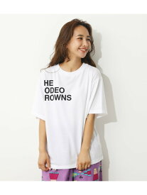 【SALE/34%OFF】RODEO CROWNS WIDE BOWL ショルダーロゴTシャツ ロデオクラウンズワイドボウル カットソー Tシャツ ホワイト ブラック ブルー