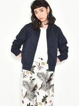 フラワー刺繍リバーシブルレースジャケット