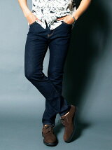NO.35 STRETCH SLIM STRIGHT  WASHED INDIGO DENIM