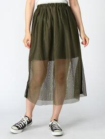 WEGO 0/(L)サイドラインメッシュロングスカート ウィゴー スカート