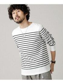 【SALE/10%OFF】nano・universe アメリカンコットンリブボートネックバスクTシャツL/S ナノユニバース カットソー Tシャツ【送料無料】