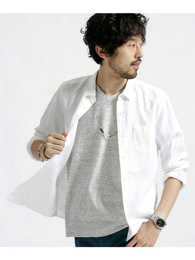 【SALE/50%OFF】nano・universe LINENレギュラーカラーシャツ LS ナノユニバース シャツ/ブラウス【RBA_S】【RBA_E】