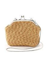 (W)カゴ編みがま口ショルダー