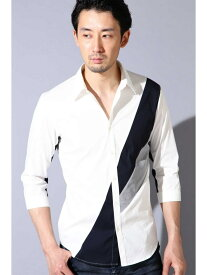 TORNADO MART TORNADO MART∴カラーブロッキングシャツ トルネードマート シャツ/ブラウス【送料無料】