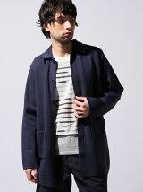 *Knit Soutien Collar Coat