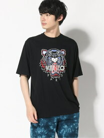 KENZO (M)SS20 Classic Tiger Oversized Tee M ケンゾー カットソー Tシャツ ブラック ホワイト【送料無料】