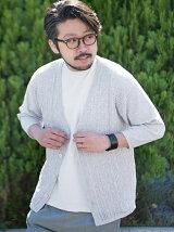 (M)メッシュ七分袖カーデ