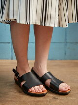 (W)H-BAR BACK-STRAP SANDALS-LEATHER
