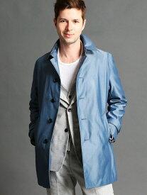 【SALE/50%OFF】HIDEAWAYS NICOLE ステンカラーコート ニコル コート/ジャケット ステンカラーコート ブルー ベージュ グレー ネイビー【送料無料】