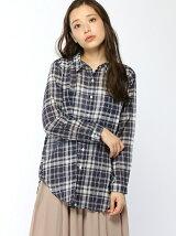 Lugnoncure/2wayシャーリングチェックシャツ