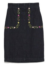 メキシコ刺繍デニムスカート