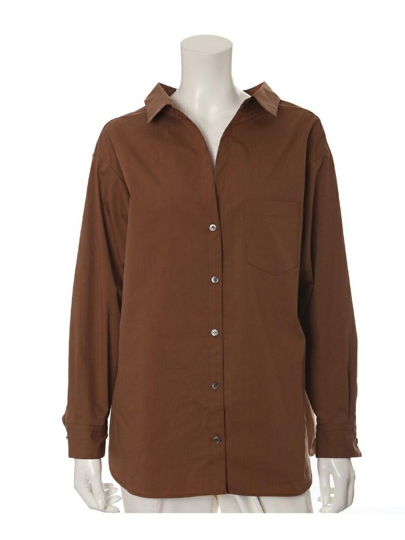 INED L size 《大きいサイズ》リラクシードロップショルダーシャツ【Luftrobe】 イネド エルサイズ シャツ/ブラウス【送料無料】