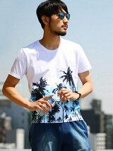 プリントTシャツ/サーフテイスト