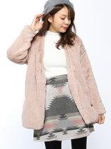 RETRO GIRL/Fファーノーカラーコート