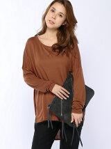 (W)モダール混裾ヘムチュニックTシャツ・カットソー