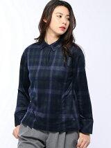 (W)ジャガードシャギーシャツ