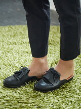 (W)SUPERSKATE FRINGE SLIP ON MULES - LEA