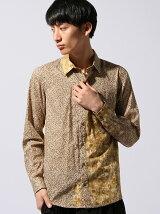 *Flower & Camo Patchwork Shirt