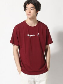 agnes b. HOMME agnes b. HOMME/(M)S137 ロゴTシャツ アニエスベー カットソー Tシャツ レッド グリーン【送料無料】