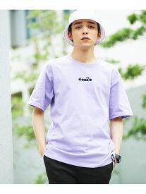 【SALE/38%OFF】DIADORA DIADORA/(M)別注diadoraロゴ刺繍Tシャツ(S) ウィゴー カットソー Tシャツ パープル ホワイト