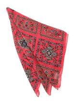 フラワータイルプリントスカーフ