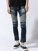 BIKERS SKINNY PRIDE DENIM PANTS