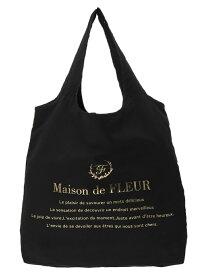 Maison de FLEUR ブランドロゴエコバッグ メゾン ド フルール バッグ トートバッグ ブラック ベージュ ネイビー