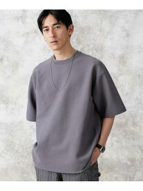 【SALE/20%OFF】nano・universe バックラグランライトウェイトニットTシャツ ナノユニバース カットソー Tシャツ グレー ブラック ブラウン【送料無料】