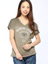 IEDIT/ヴィンテージライク大人ロゴTシャツ