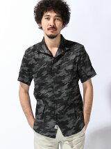 TETE HOMME/(M)カモフラシャツ