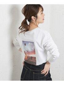 Sonny Label フォトプリントロングTシャツ2 サニーレーベル カットソー Tシャツ ブルー【送料無料】