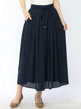 Techichi TERRASSE/シフォンジョーゼットロングスカート