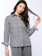 (W)32/-ツイルチェック起毛シャツ