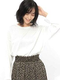 【SALE/20%OFF】LAKOLE (W)ビッグロングスリーブT ラコレ カットソー Tシャツ ホワイト ブラウン ピンク ブラック