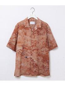 【SALE/60%OFF】ADAM ET ROPE' ネイチャー総柄 ドレープ オープンカラーシャツ アダムエロペ シャツ/ブラウス シャツ/ブラウスその他 オレンジ ブラウン【送料無料】