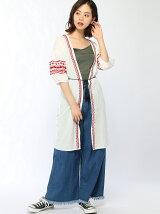 【Dukkah】(L)エスニック刺繍ロングガウン