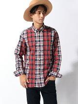 BEAMS / カットドビー チェックシャツ