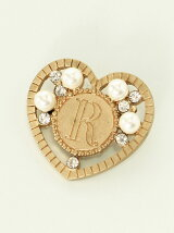 R HEART BROOCH