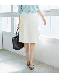 ROPE' 【SS/S/Lサイズあり】【セットアップ対応】スラブツイードトラペーズスカート ロペ スカート スカートその他 ホワイト ネイビー【送料無料】